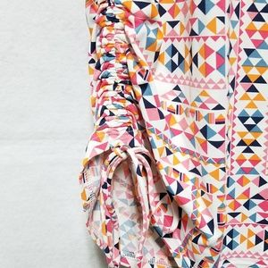 Lands' End Tops - Land's End Stretchy Geometric Multi-colored Blouse